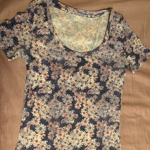 urban outfitters scoopneck floral tee
